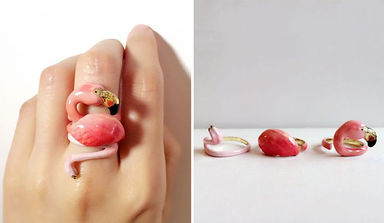 flamingo-animal-rings