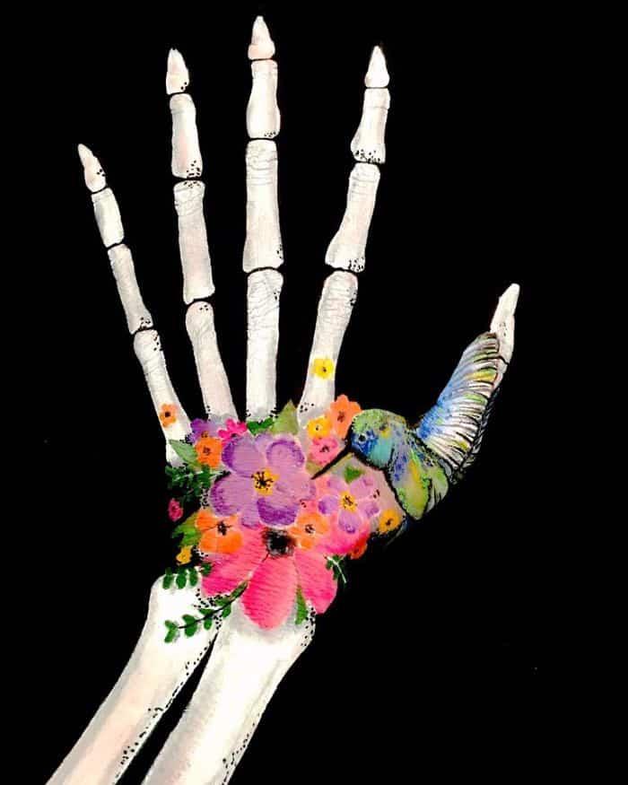 flower-skeleton-optical-illusion-on-arm