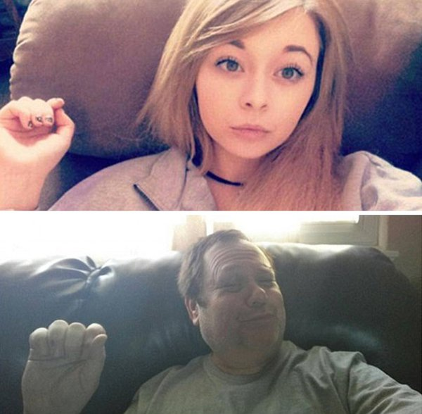 hand-and-pout-dad-trolling-daughter-selfie