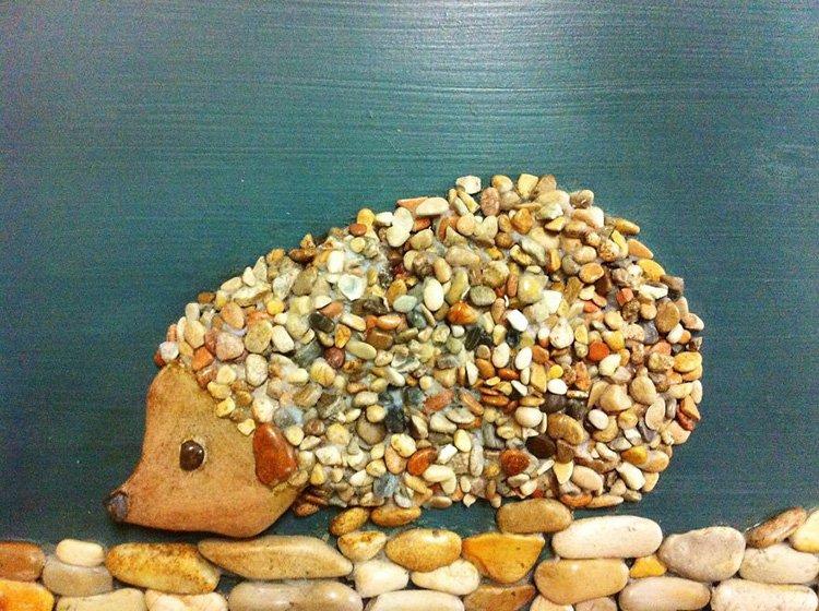 hedgehog-stone-art