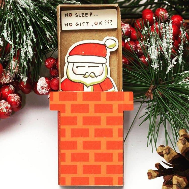 no-sleep-no-gift-matchbox-greeting-card