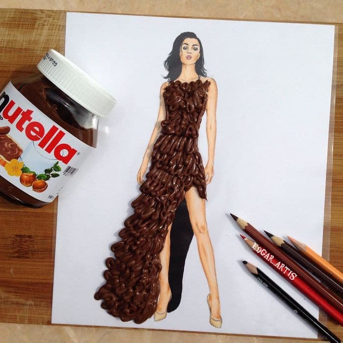 14 Incredible Sketches Showing Gorgeous Dresses Made From Everyday Items Part 1