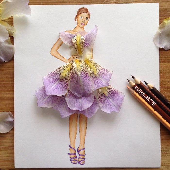 petals-dress-sketch