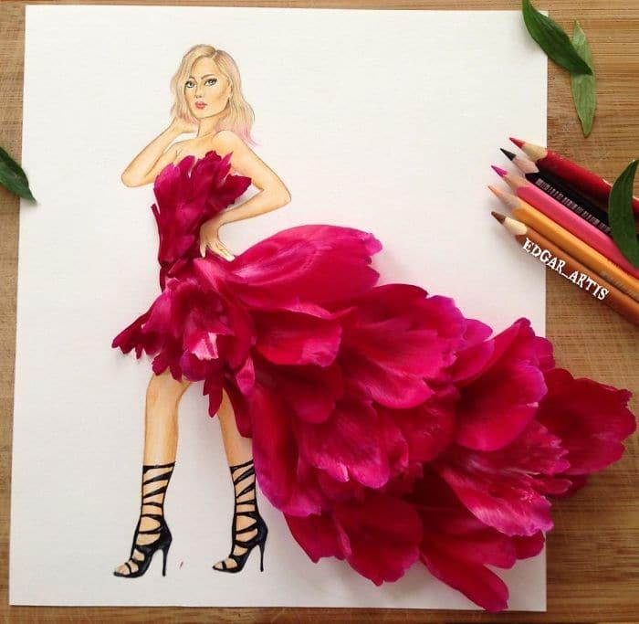 pink-petals-dress-sketch