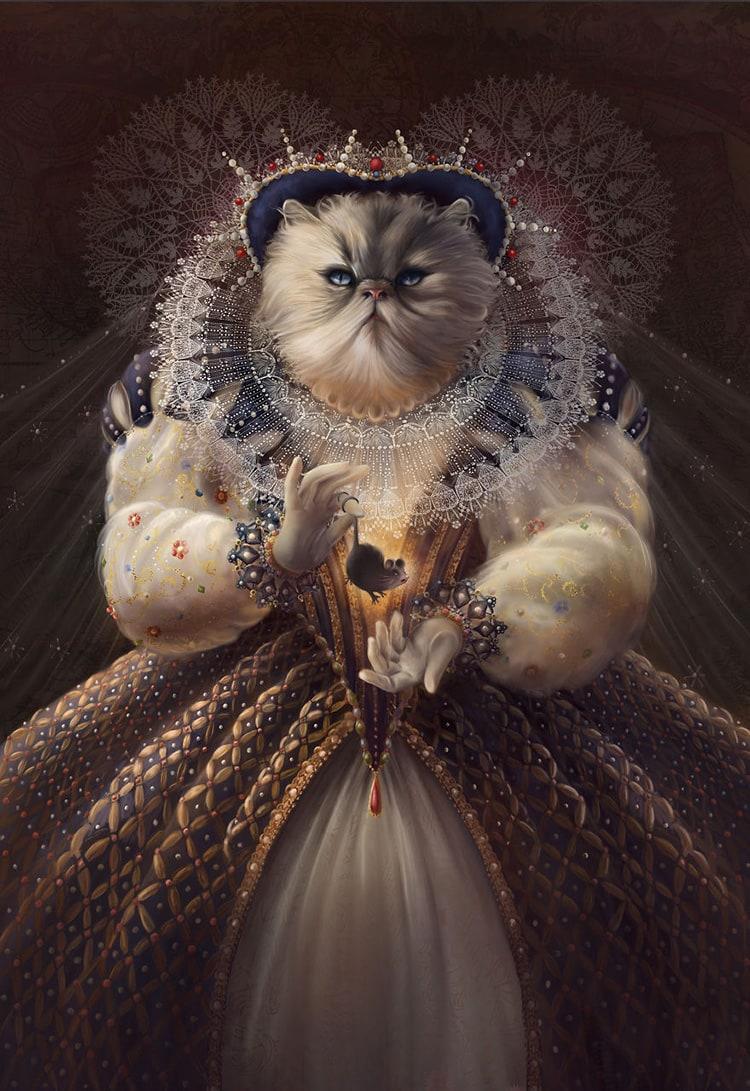 queen-elhissabeth-cat-historical-people
