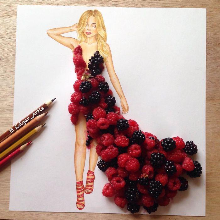 raspberry-dress-sketch