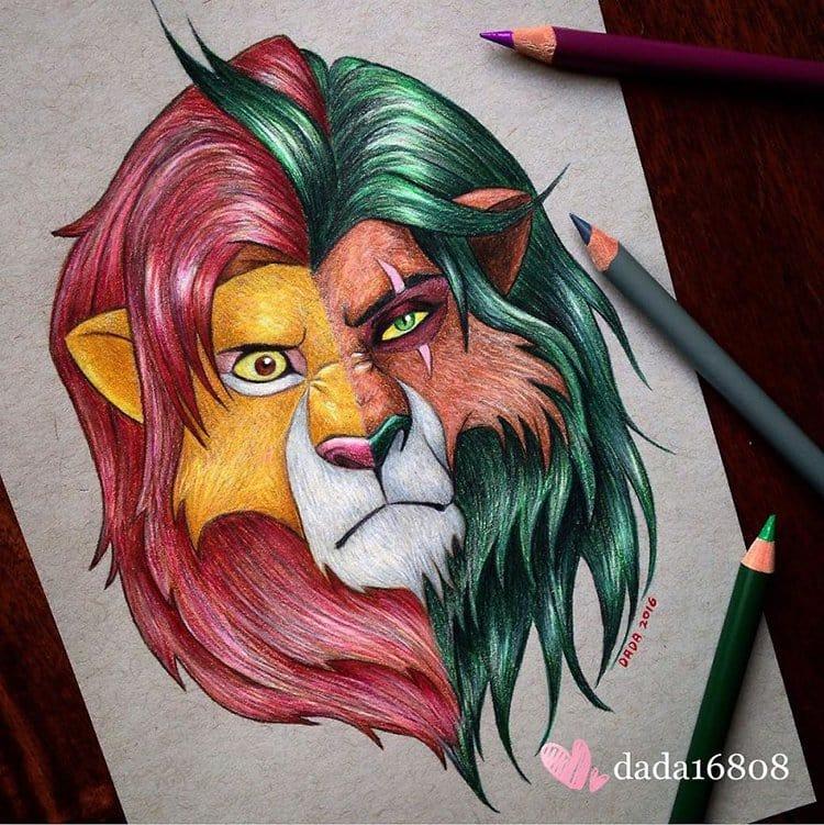 simba-vs-scar-drawing