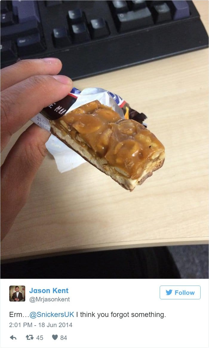 snickers-complaint
