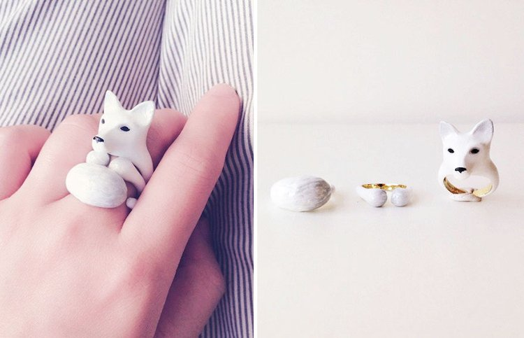 snow-fox-animal-rings