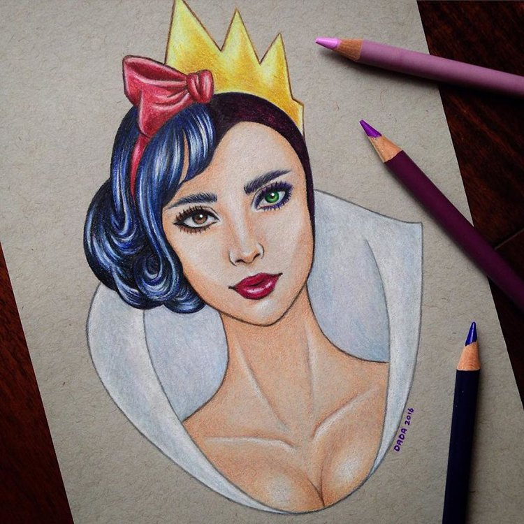 snow-white-vs-evil-queen-drawing