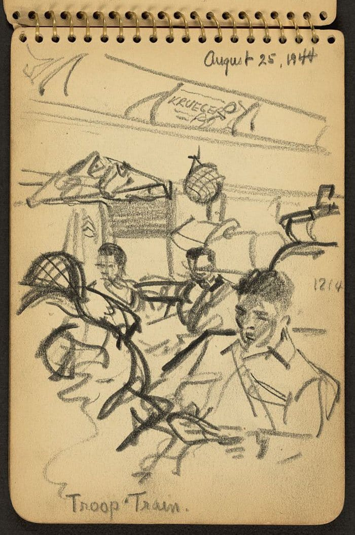 troop-train-wwii-sketch