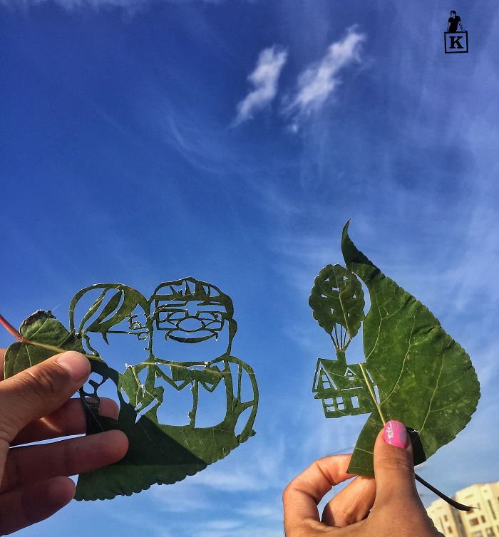 up-characters-leaf-drawing
