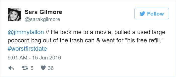 used-popcorn-bag-trash-refill-awkward-date-tweet