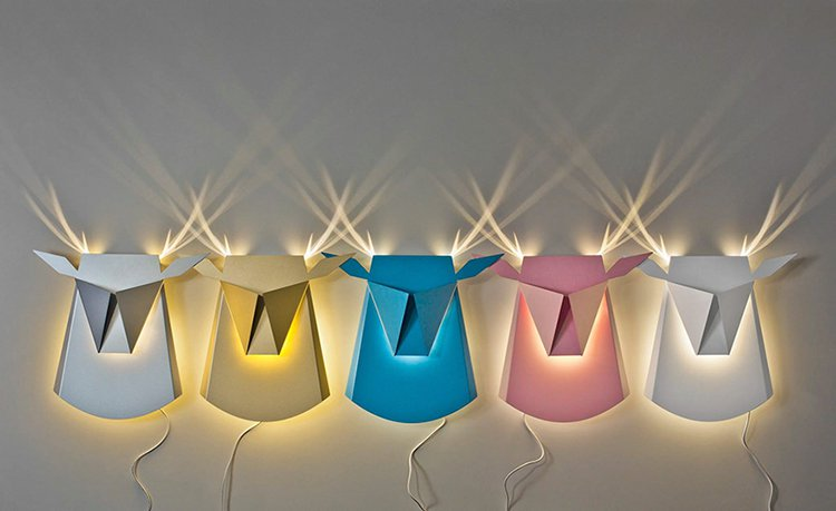 varying-colors-stag-wall-lights