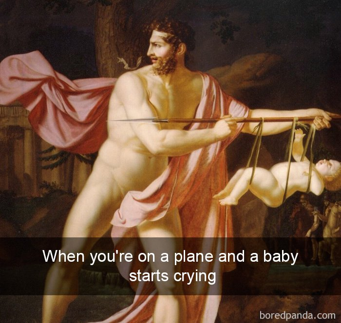 on-a-plane-baby-starts-crying-art-history-tweet