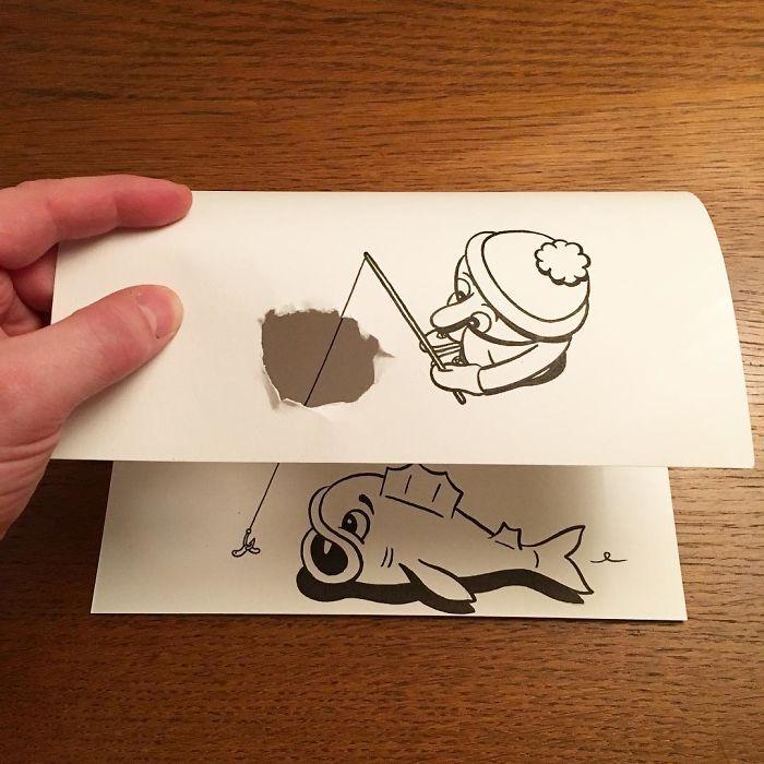 3d-paper-art-huskmitnavn-fishing