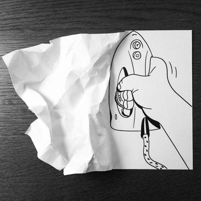 3d-paper-art-huskmitnavn-ironing