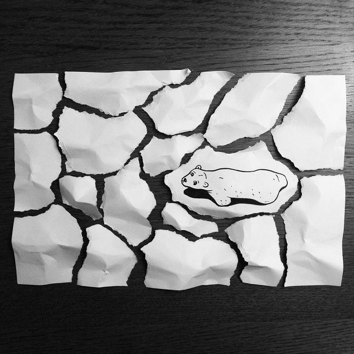 3d-paper-art-huskmitnavn-polar-bear