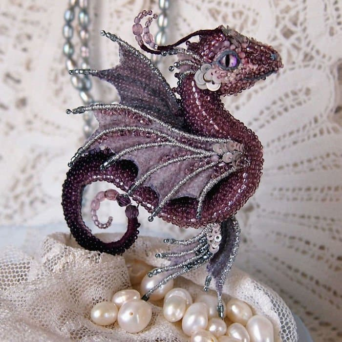 Alyona-Lytvin dragon brooch sea butterfly full body