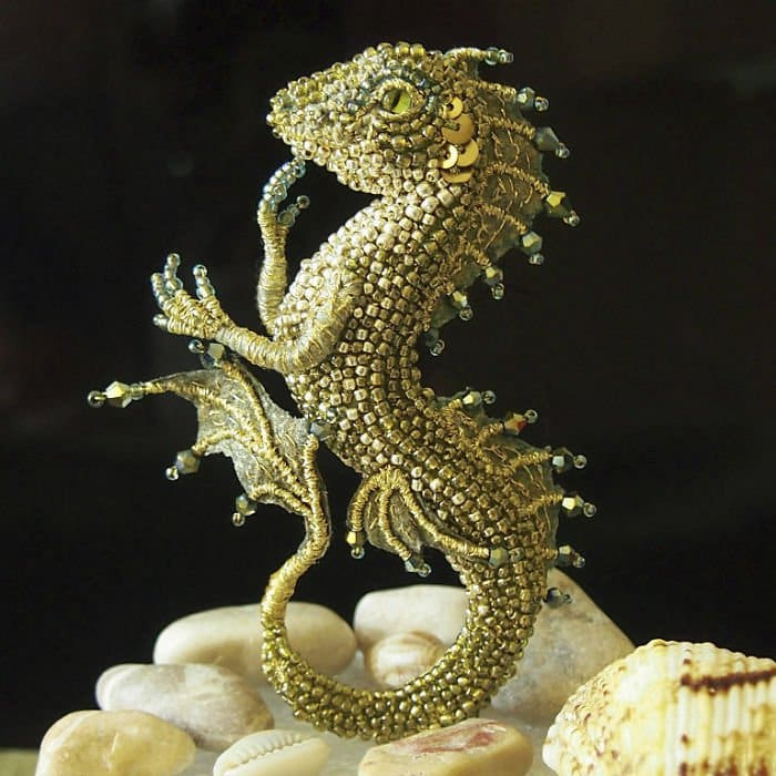 Alyona-Lytvin dragon brooch zlata