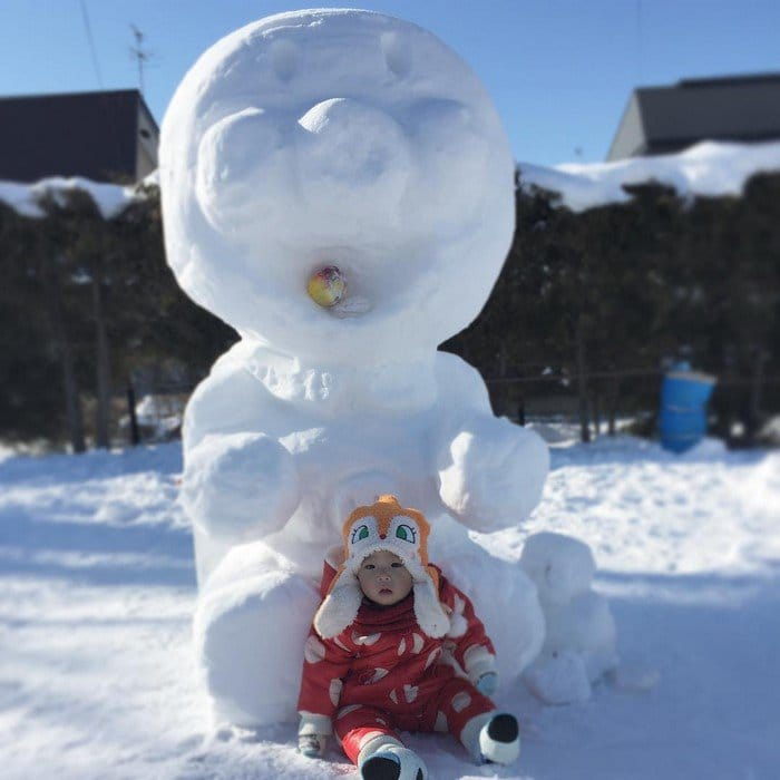 Anpanman japan snow sculpture