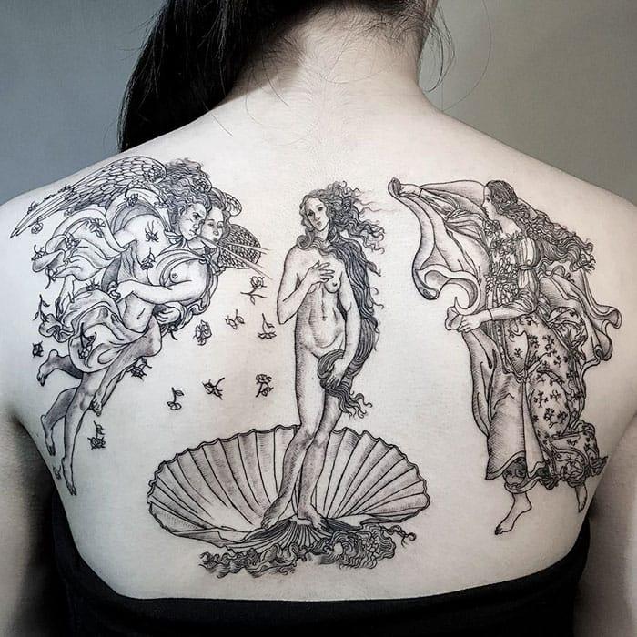 Birth Of Venus Sandro Botticelli tattoo