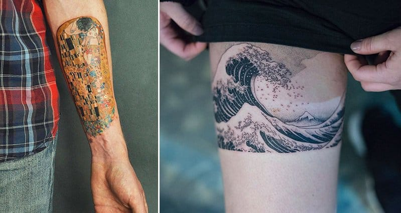 Classical Art Inspired Tattoos