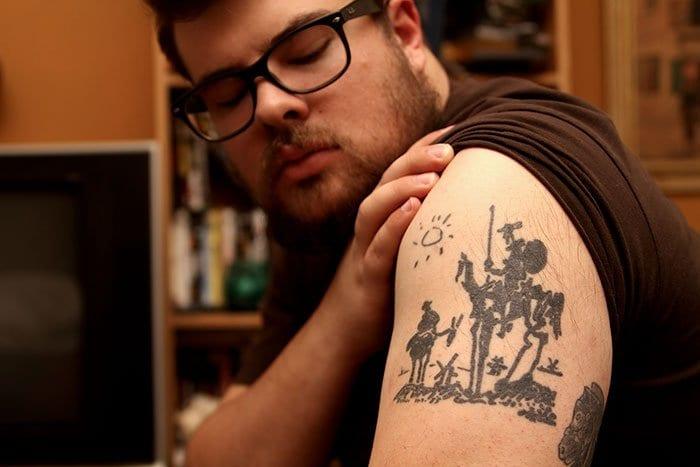 Don Quixote Pablo Picasso tattoo