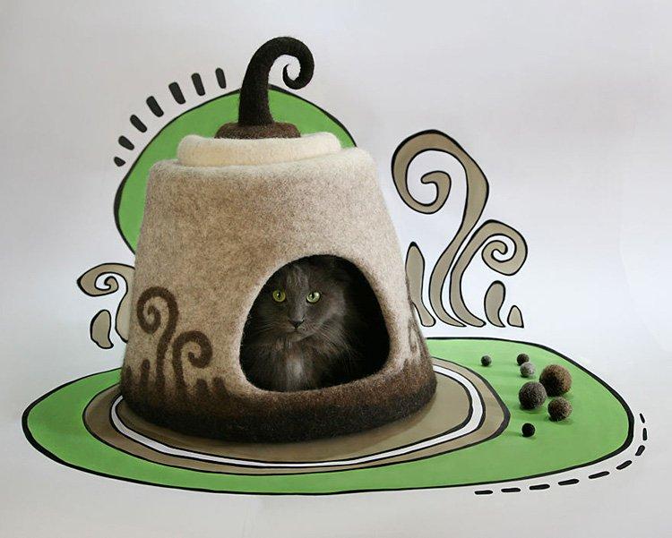 my-felted-world-brown-felt-cat-house