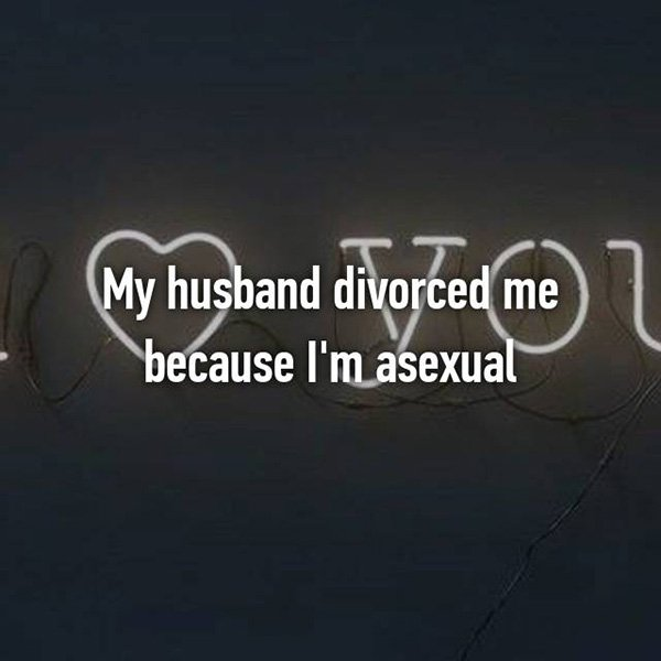Shocking Divorce Reasons asexual