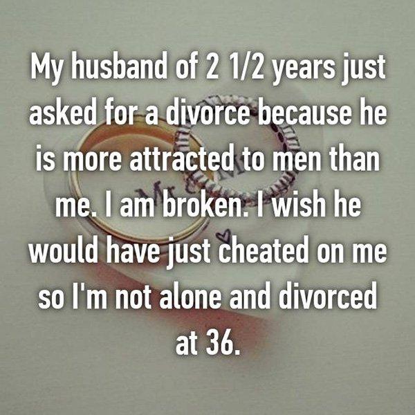 Shocking Divorce Reasons attracted to men