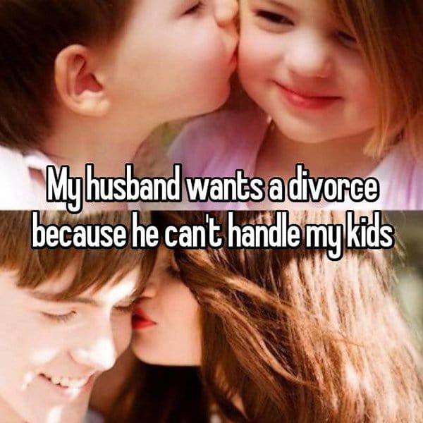 Shocking Divorce Reasons cant handle my kid