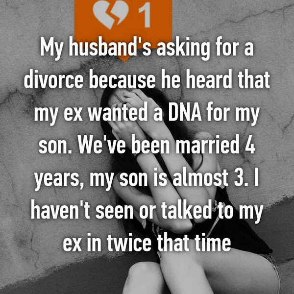 Shocking Divorce Reasons dna test