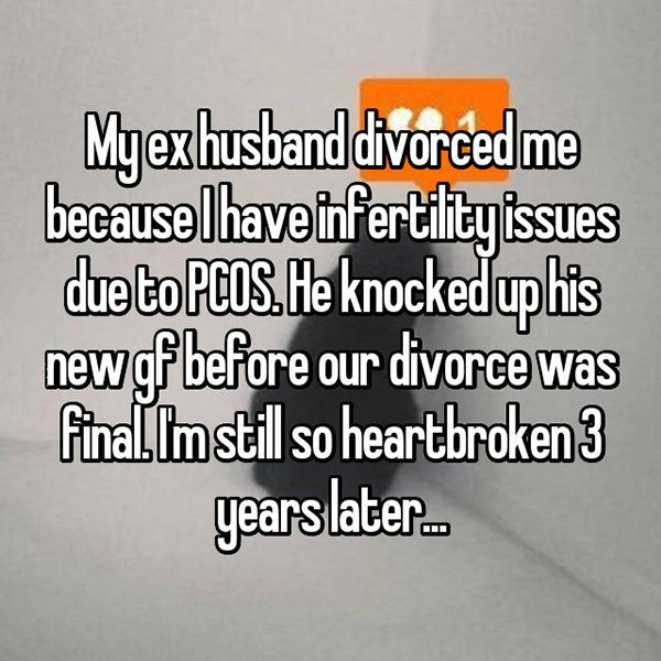 Shocking Divorce Reasons fertility issues
