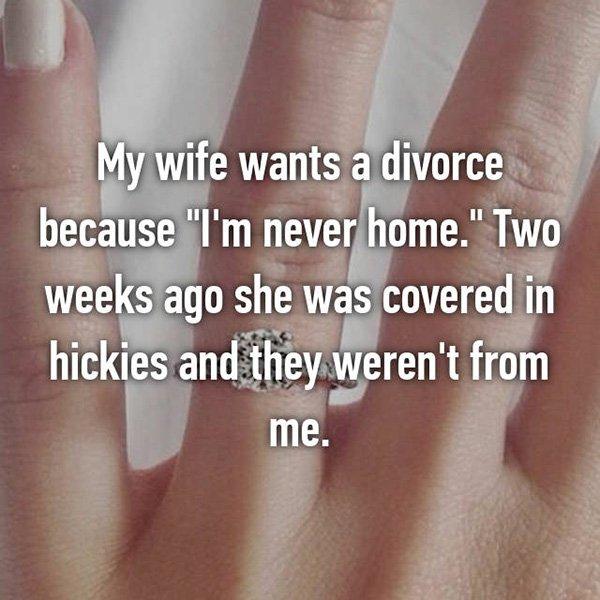 Shocking Divorce Reasons hickeys