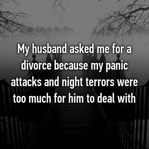 Shocking Divorce Reasons panic attacks