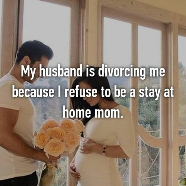 Shocking Divorce Reasons stay at home mom