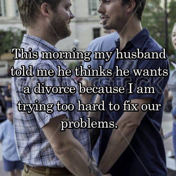 Shocking Divorce Reasons trying too hard