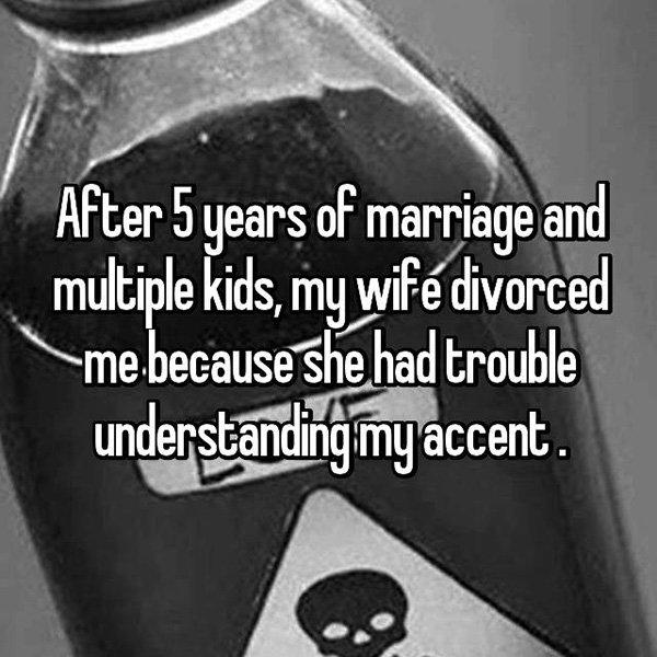 Shocking Divorce Reasons understanding accent