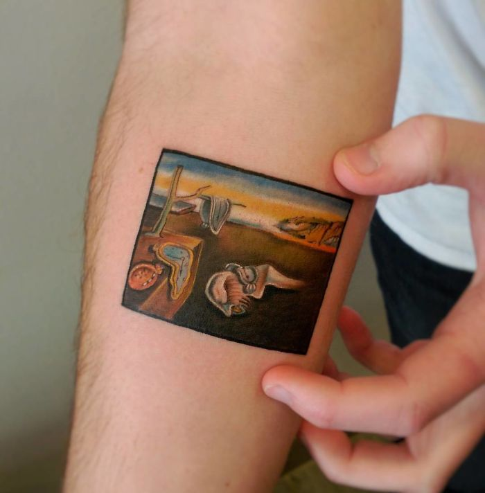 The Persistence Of Memory Salvador Dali tattoo