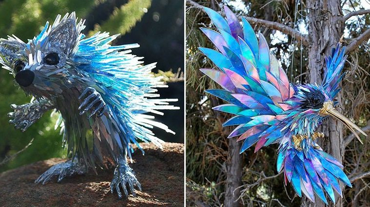 artists-recycles-cds-sculptures-sean-avery