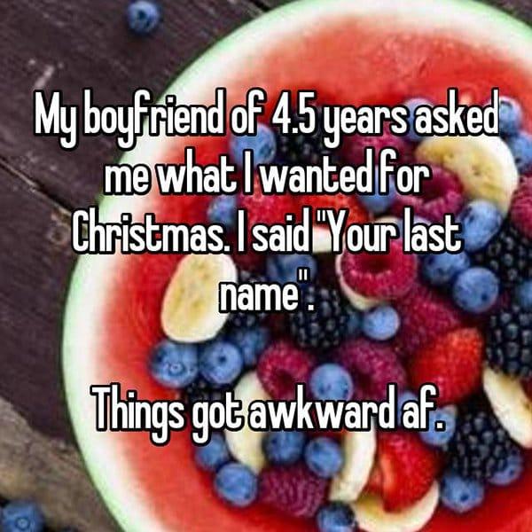 awkward christmas i want your last name
