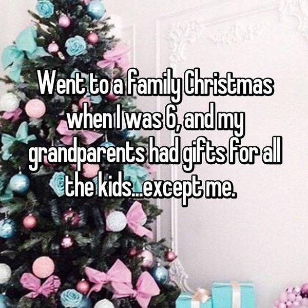 awkward christmas no gift for me