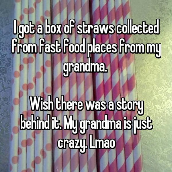 awkward christmas straws from grandma