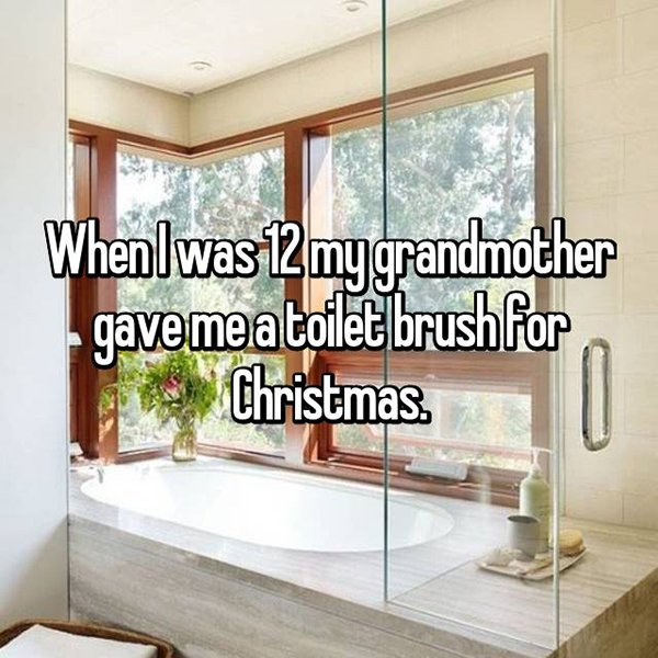 awkward christmas toilet brush