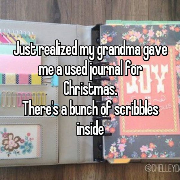 awkward christmas used journal