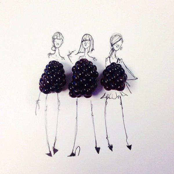 blackberry fashion sketches food