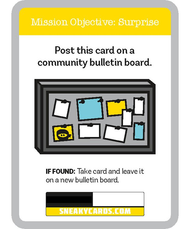 card game sneaky cards bulletin board