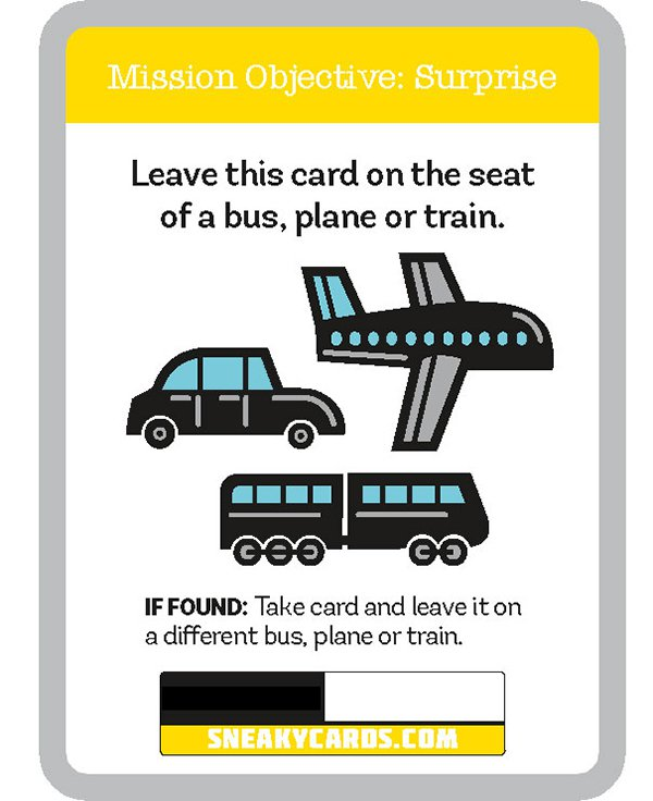 card game sneaky cards bus train plane