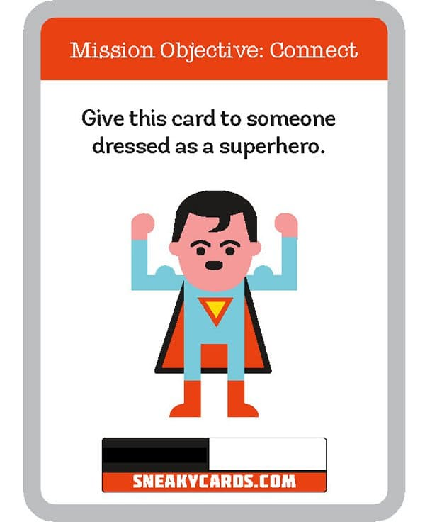 card game sneaky cards superhero